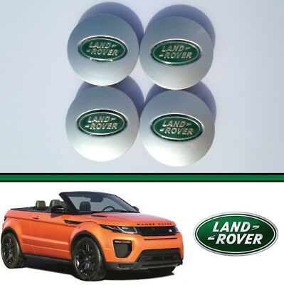 4x LAND ROVER ALLOY WHEEL CENTRE HUB CAPS DISCOVERY FREELANDER RANGE EVOQUE 63mm