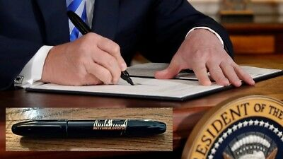 President Donald J. Trump Signature - Bill Signer Marker Pen - White House