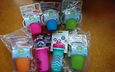 7 x Munchkin 360 cup Large bundle baby sippy cup Zak Toddlerific Tommee Tippee