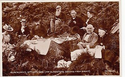 Original Postcard Mr Gladstone At Blackcraig East Ayrshire Scotland Sept 1893