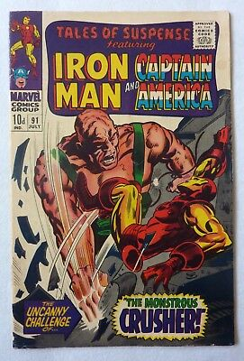 Tales Of Suspense 91 Iron Man Captain America Silver Age 1967 VG+/NF Condition