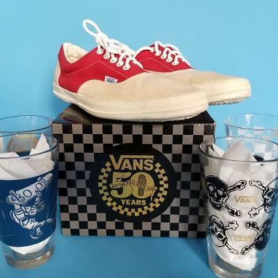 VANS SNEAKERS 1970s NEW Red SKATEBOARD Shoes RARE Authentic Era Vintage FOG 8.5