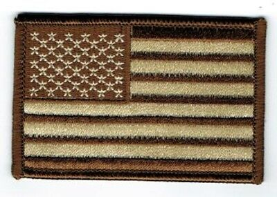 Brown And Tan American Flag Patch, Flag Patches, Military Patches