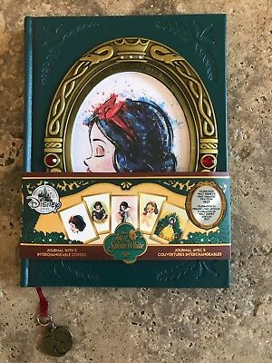 NEW Disney Store ART OF SNOW WHITE Journal With 5 Interchangeable Covers D23