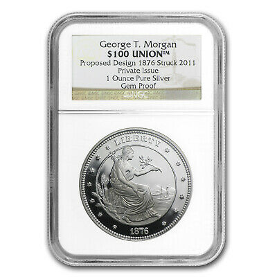 1 oz Silver Round - $100 Silver Union George T. Morgan Proof NGC - SKU #72261