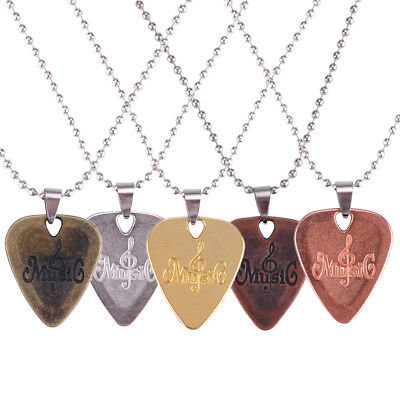 Fashion Zinc Alloy  Necklace Chain Guitar Pick Plectrum Necklace Jewelry Gifts