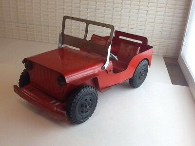 Marx Lumar Willys Jeep 1940s 1950s utility litho vintage antique metal toy