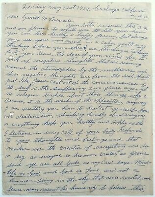 1954 TOMMY BURNS ALS hand written & signed letter with Jack Johnson content