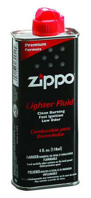 Zippo Fuel FLuid Can Lighter Low Odor Fast Ignition Clean Burning Flame  4 Oz