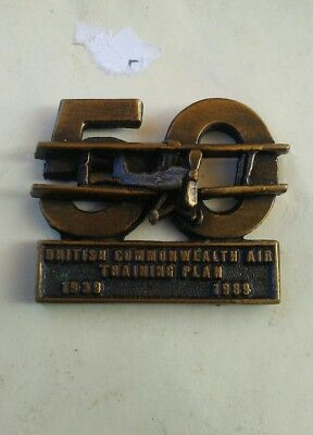 The Plan 50th British Commonwealth Air Training Plan pin 1939 to 1989 rare