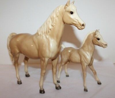 Collectible Breyer Molding Co Palamino .Mare and Foal/ Glossy Tan/ White Face