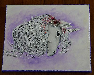 Folk Art Painting Fantasy Unicorn Beading Canvas