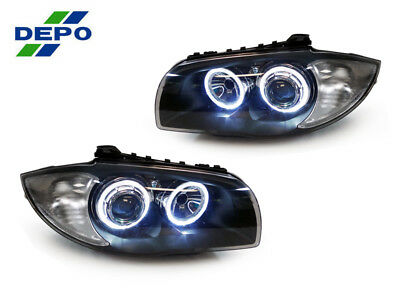 DEPO V2 White LED Angel HALO Projector Headlight For 08-12 BMW E82/E88 1 SERIES