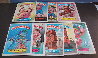 1986 Garbage Pail Kids Trading Cards Stickers Collection of 9