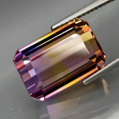 Gorgeous 13.17ct VVS Emerald Cut Natural Ametrine Gemstone