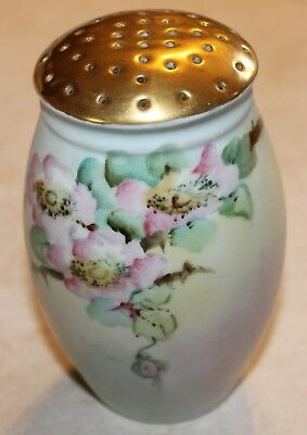 Hat Pin Holder Muffiner Sugar Shaker Estate Antique Gilded Bavaria Hand Painted