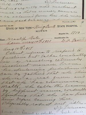 Kings Park State Hospital Patient File Medical Record  *100+ yrs old*