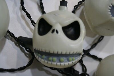 HALLOWEEN Novelty Jack Skellington SKULL String of Lights