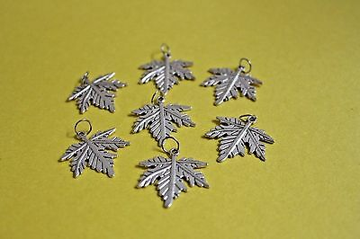 Lot of 7pcs leaf Pendant Necklace/Charm for Jewelry making, costume decoration