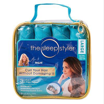 Sleep Styler heat-free Nighttime Hair Curlers Large for long thick or curly hair