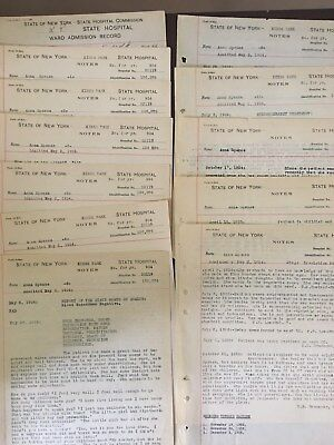 Kings Park State Hospital Patient Record Medical File- 12 pages
