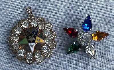 Mason Order of the Eastern Star Pendant and Brooch Pin