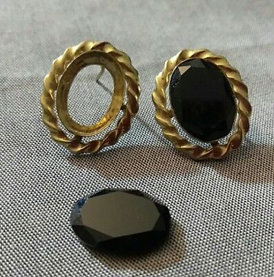 Antique Victorian/Art Deco 14K GF Earrings As-Is