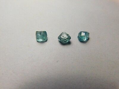 Zircon faceting rough. 3 pcs. deep blue. 8.5 cts. clean. Cambodia.