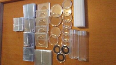 75 Pieces Mixed Coin Holders