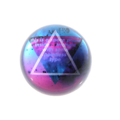 Clearance Sale Crystal Triangle Painting Ball Half Sphere Ornament Decor 80mm