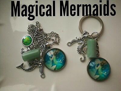 Code 336 Magical Mermaid aventurine Infused Necklace Magic Myth Sea treasure