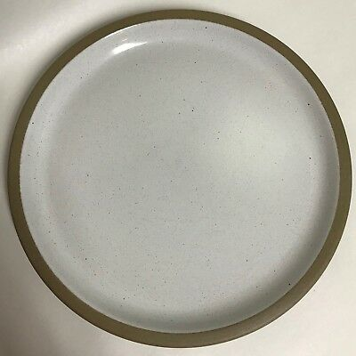 "Midwinter Stoneware NATURAL Dinner Plate 10.5"" Tan Rim Made in England"