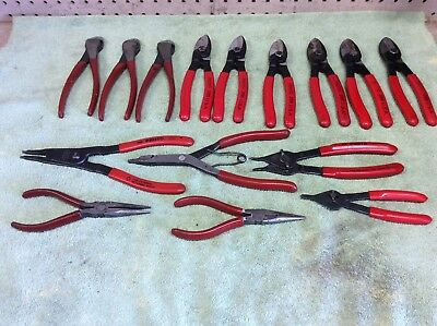 LOT OF 15 PROTO PROFESSIONAL Pliers Cutters Needlenose Used