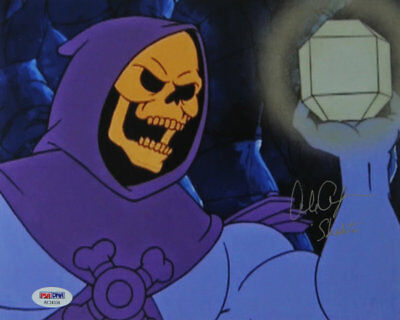 Skeletor Hand Signed by Alan Oppenheimer  8 x 10 PSA/DNA