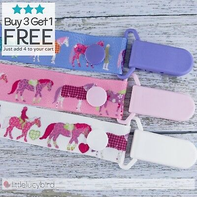 Horses Dummy Clip - Pacifier Clips - Soother Chain - Baby Gift
