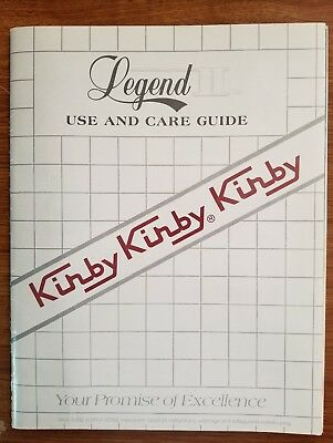 Kirby Legend II Use and Care Guide W/Warranty Pamphlet Late 80's Original