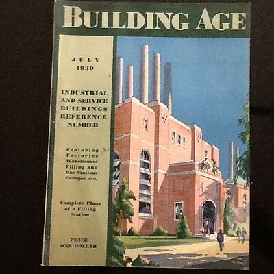 July 1930 Building Age Magazine w/ Working Drawings for a Brick Service Station