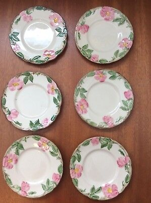 Franciscan DESERT ROSE 6 Bread and Butter Plates  U.S.A.TV Mark Calif.1958-60
