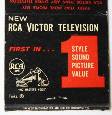 RCA-Victor Aid TV repair matchbook-N.College Avenue 1950s Indianapolis,Indiana