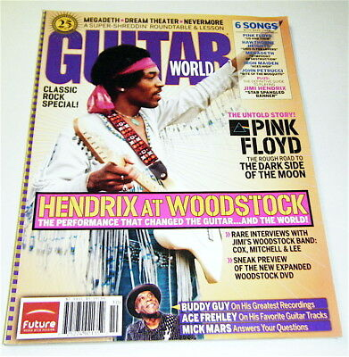 Hendrix at Woodstock POSTER & Play Jimi's STAR SPANGLED BANNER Sheet Music Score