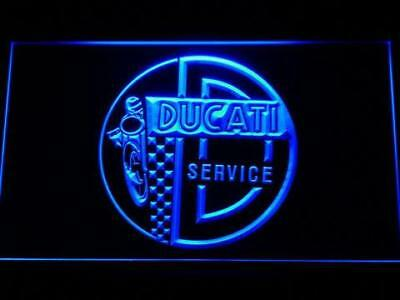 Ducati Service Motorcycles 3D LED Neon Sign Home Pub Man Cave Garage