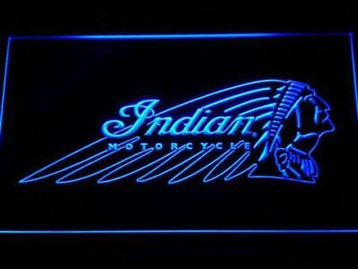 Indian Chief Motorcycles 3D LED Neon Sign Home Pub Man Cave Garage