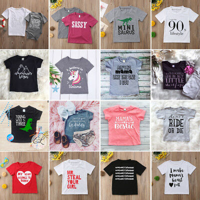 AU Toddler Infant Baby Girls Boys Short Sleeve Romper Top T-shirt Blouse Clothes