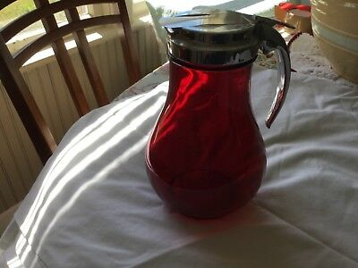 Vintage Large Royal Ruby Syrup Container