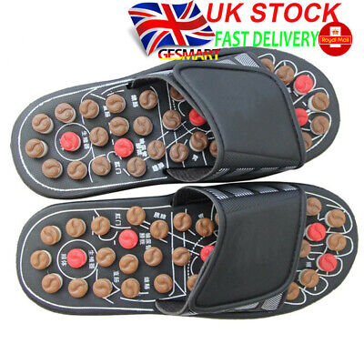 Rotary Massage Ball Spiny Foot Sole Massage Slippers Acupuncture Therapy GESMART