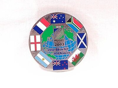 Rugby World Cup 2003 Country Flag Pin Badge Argentina Wales Scotland France