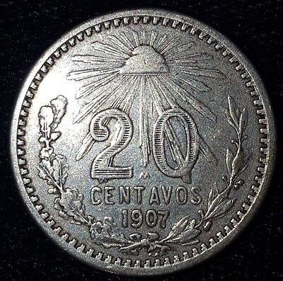 1907, 20 Centavos from Mexico. No Reserve!!!