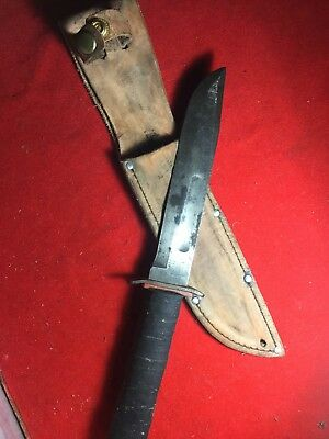 RARE EARLY WAR WW2 WWII KABAR USMC RED SPACER MARK 2 MK2  Fighting Combat Knife