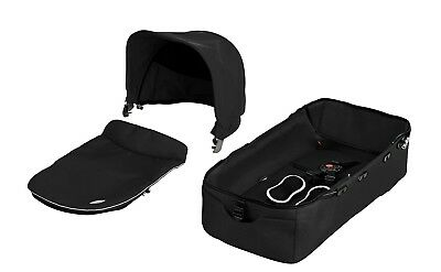 Seed Carry Cot Bassinet Complete fits the Seed Pli Mg Baby Stroller-Black-used