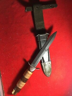RARE MINT WWII WW2 US M3 Theater Trench Fighting Combat Knife W/ M8 BM CO Sheath